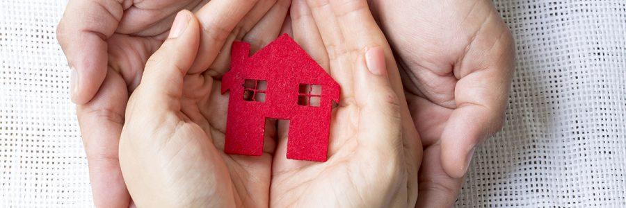 Building project blueprint plans and house model. Real estate, construction concept, banner. Architecture design. 3d illustration
